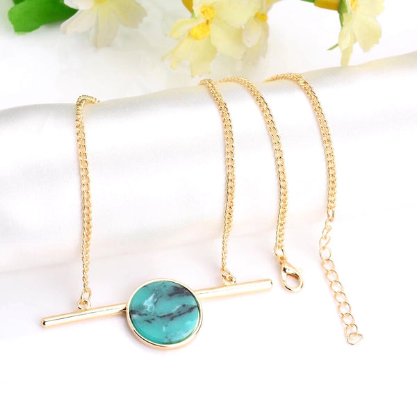 Elemento Necklace Turquoise Pendant Chain