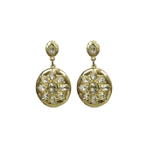 Ethnic Touch Crystal Earrings
