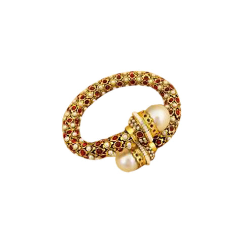 Ethnicity Red Stretch Open Kadda Bracelet