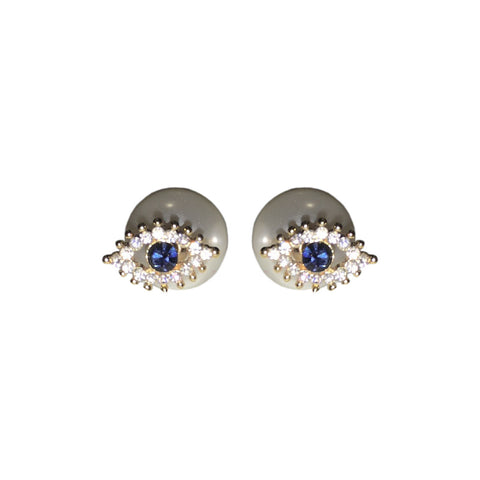 Evil Eye Double Stud Earrings