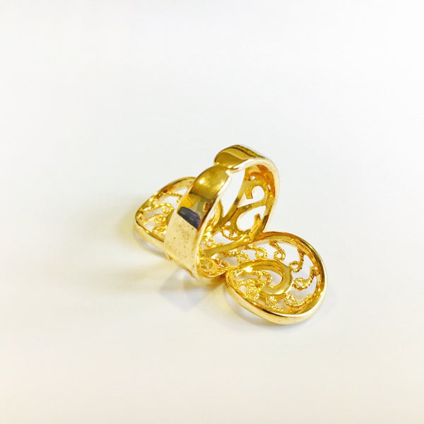 Femme Adjustable Gold Ring