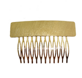 FLAT STAMPED TEXTURED COMB GOLD