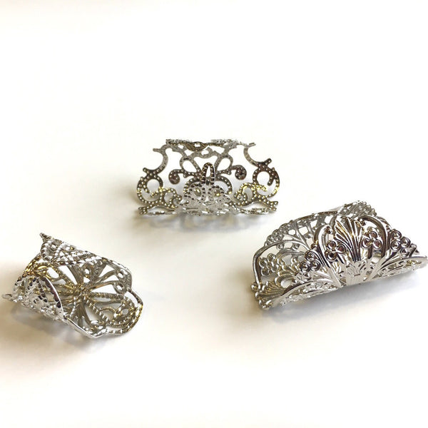 Florid Set Of 3 Rings Silver