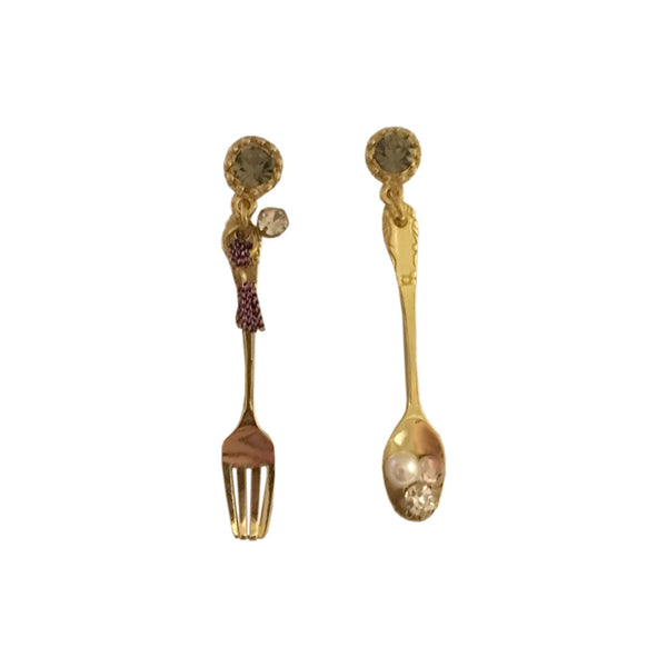 Foodie Dangler Earrings - Gold