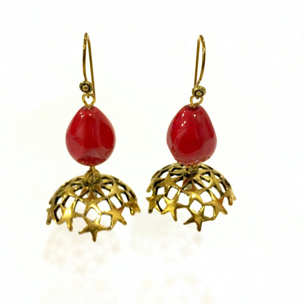 Fusion Dangler Jhumki Earrings