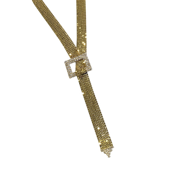 Gold Ladder Mesh Long Necklace