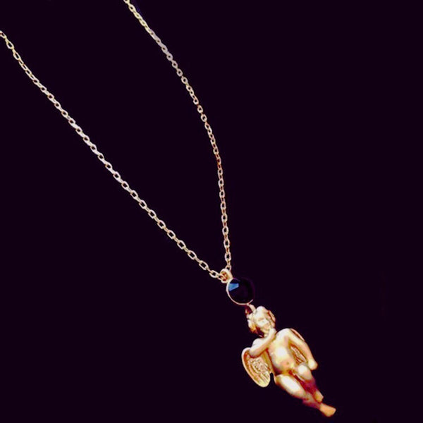Guilded Cupid Pendant Chain