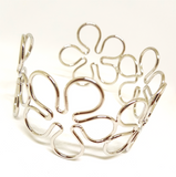 HOLLOW FLOWER ARMLET ARM BAND SILVER