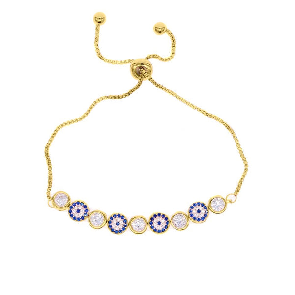 Sparkle Evil Eye Adjustable Bracelet