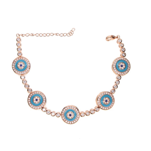 Turquoise Blue Enamel Turkish Evil Eye