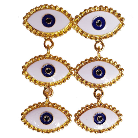 Evil Eye Enamel Dangler Earrings