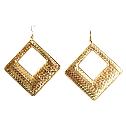 Accented Metal Dangler Hook Earrings