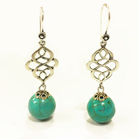 Intricate Stone Dangler Drop Earrings