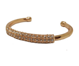 IRRIDESCENT CRYSTAL ROSE GOLD SLIM CUFF