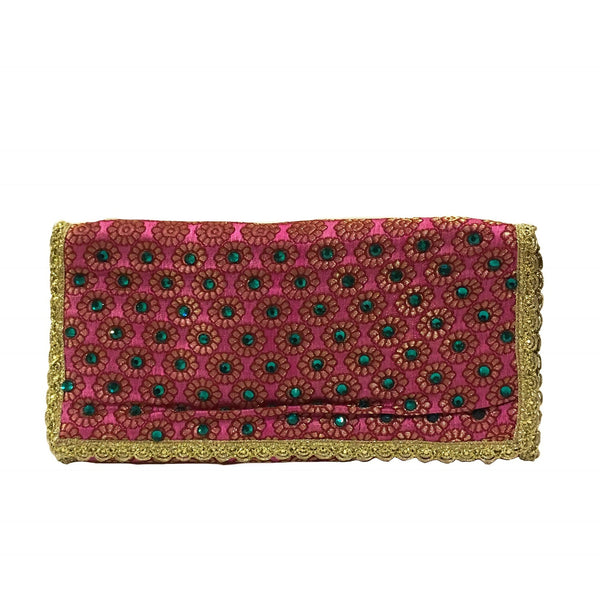 Jewellery Pouch Pink & Green