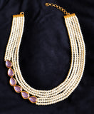 Kalakari Kundan And Pearl Multistrand Necklace