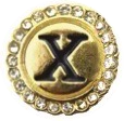 LETTER X - GOLD