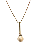 Light Me Up Pearl & Crystal Drop Long Chain Pendant