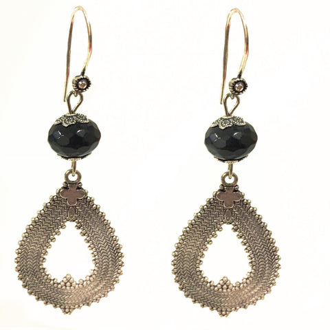 Loop Beaded Drop Danglers Earrings