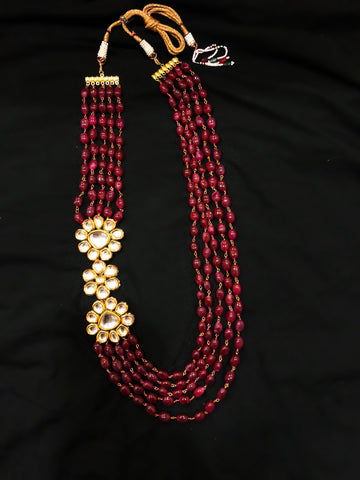 Maharani Kundan And Beaded Multistrand Necklace