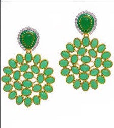 Marigold Petal Earrings Green