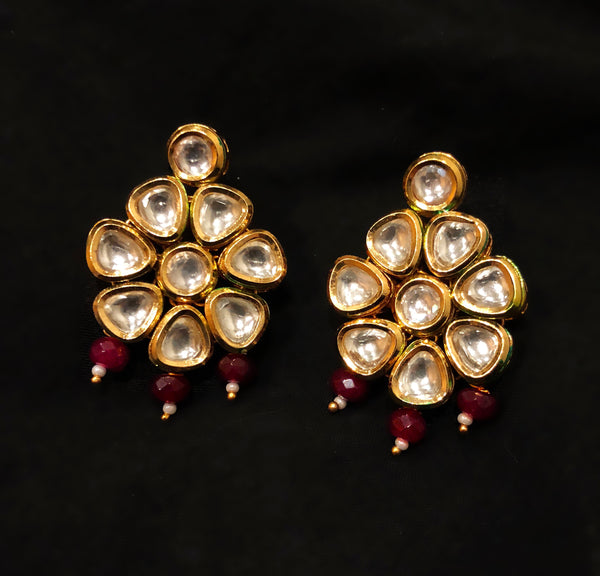 Marwar Kundan And Beaded Dangler Earrings