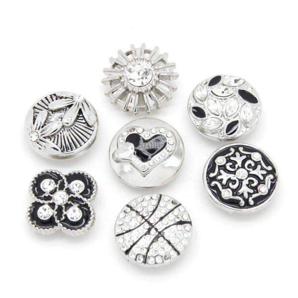 MONOCHROME SET OF 6 BUTTONS