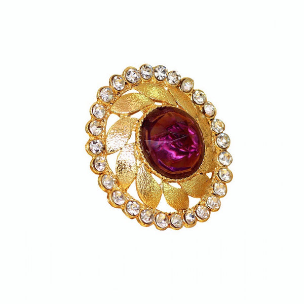Mughal Purple Adjustable Ring