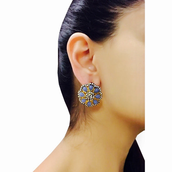 Neel Stone Top Earrings