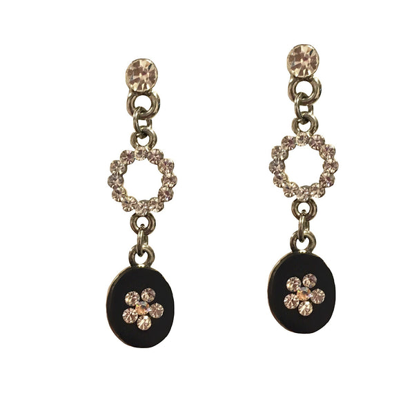ONYX SPARK PETIT DANGLER EARRINGS