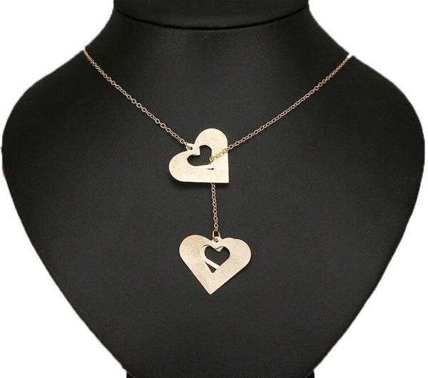 Our Hearts Necklace Gold