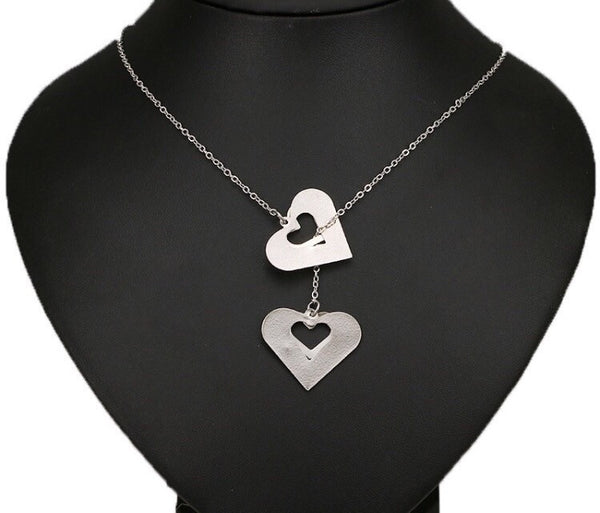 Our Hearts Necklace Silver