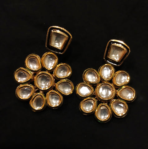 Patrani Kundan Beads Pearl Earrings