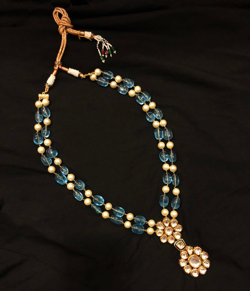 Patrani Kundan Beads Pearl Long Necklace
