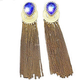 Prudence Chain Tassel Earrings
