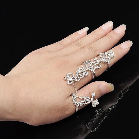 Queen Bee Double Ring Silver