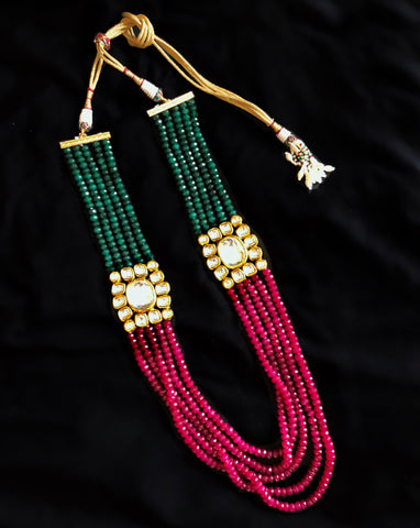 Rajwada Royal Kundan Beaded Necklace