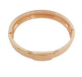 SIMPLE ROSE GOLD FLAT BANGLE BRACELET