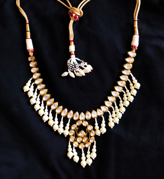 Sitara Kundan And Pearl Dangler Choker Necklace