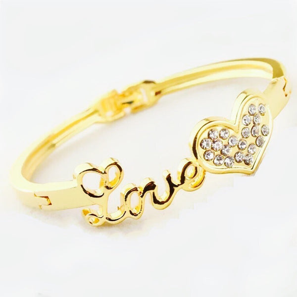 SPARKLING LOVE BANGLE BRACELET (size 2/6)
