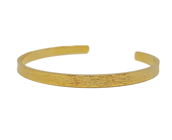 STAMPED SLIM TEXTURED GOLD CUFF BRACELET