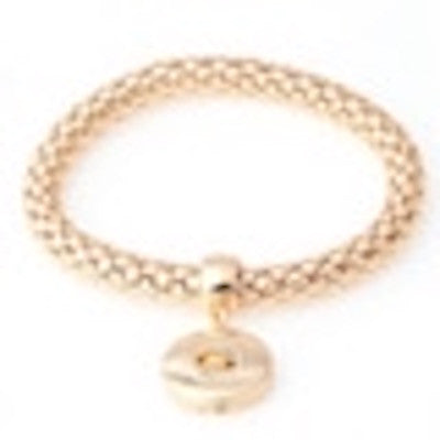 BUTTON STRETCH BRACELET GOLD