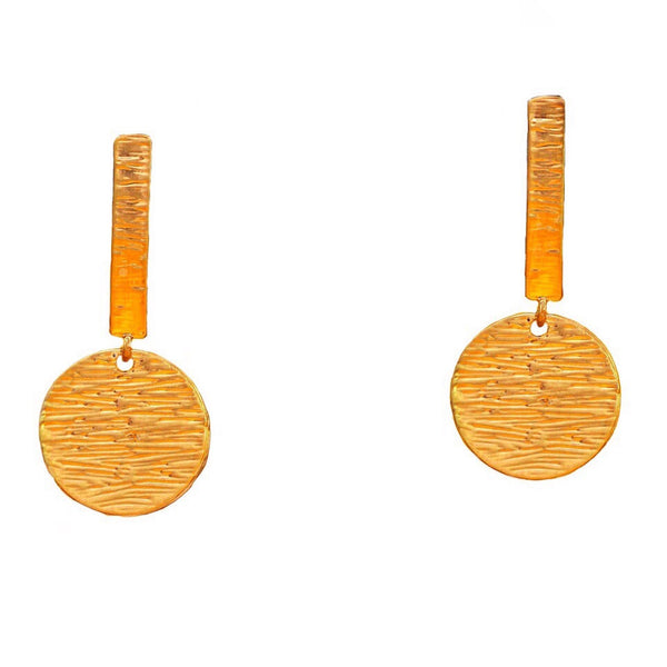 Textured Flat Metal Earrings