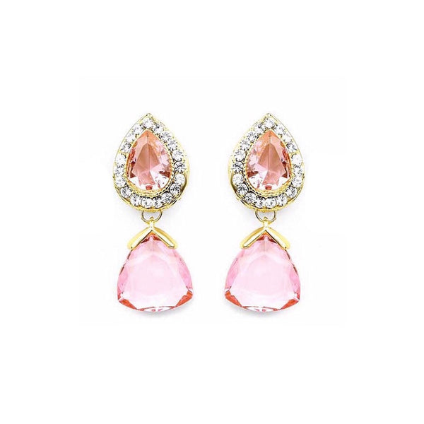 Translucent Dew Drop Earrings Pink