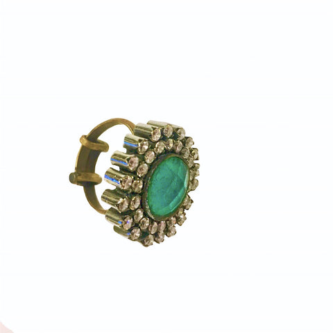Turquoise Depth Adjustable Stone Ring