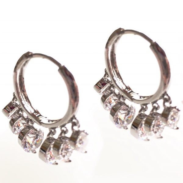 Twinkle Multi Diamante Hoops
