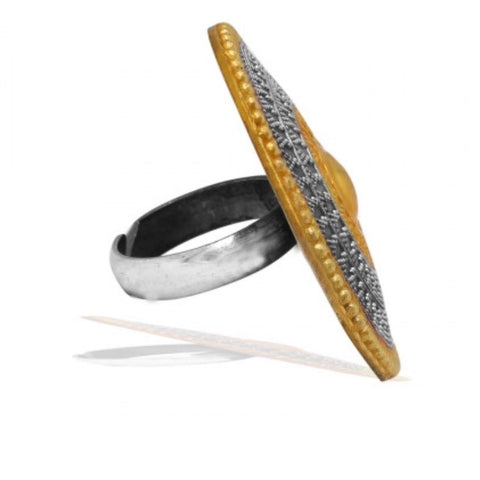 Two Tone Sultanat Adjustable Ring