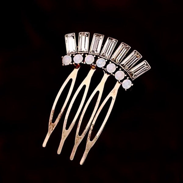 VENUS SEMI CRYSTAL & STONE MINI COMB