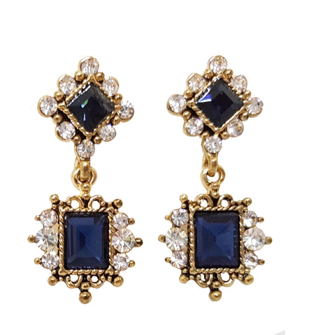 VICTORIA VINTAGE DAINTY EARRING BLUE