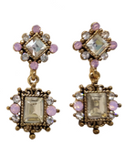 VICTORIA VINTAGE DAINTY EARRING PINK